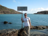 Peta at the tip on our first trip to Cape York 2009.